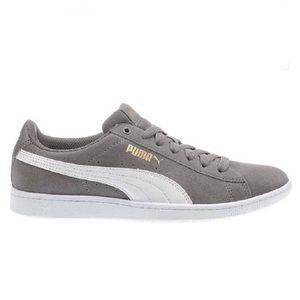 Puma Women's Vikky v2 Suede Grey Sneaker, Size 9